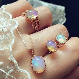 Opal Rainbow Jewelry Set. 🆕